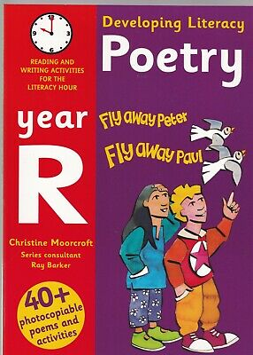 Poetry: Year R: Reading and Writing Activities Developing Literacy English Book
