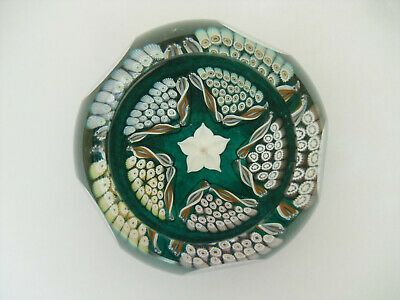 "Ltd Ed Edinburgh/Caithness ""Aquamarine"" Paperweight ""E"" Cane (64/250) - 2 3/4"""