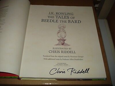 Signed The Tales of Beedle the Bard: Illustrated EdUK1/1 signed by Chris Riddell