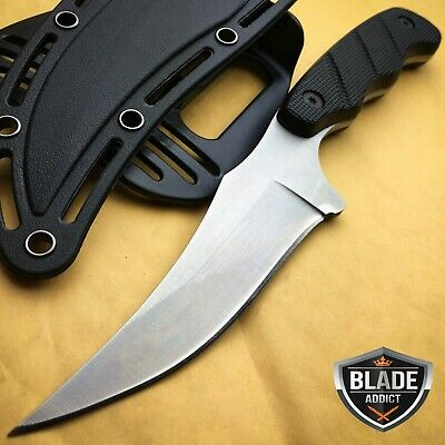 Tactical Survival Hunting Fishing Camping Outdoor Skinning Fixed Blade Knife -W