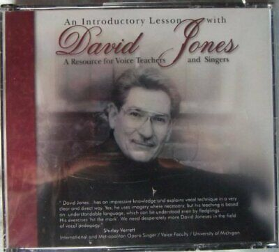 David Jones - Introductory Lesson: Resource For Voice Teachers New Cd