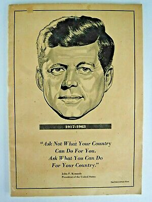 Booklet by Indianapolis Star re Kennedy Assassination-Nov. 22-26,1963 - 48 pages