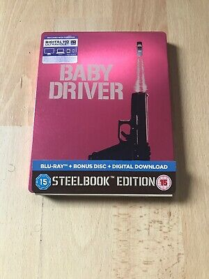 Baby Driver 2 Disc Blu-ray Steelbook w/ Slipcover and Digital Download Uv