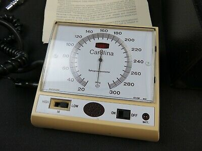 Vintage Carolina Electronic Sphygmomanometer with Case