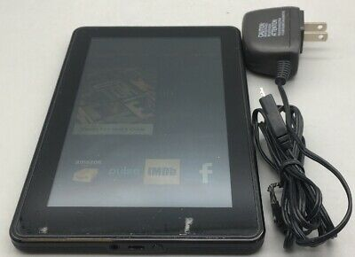 AMAZON KINDLE FIRE 1st Gen D01400 Black Wi-Fi 8GB 7