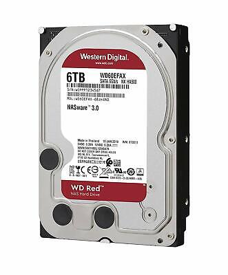 "Western Digital WD Red 6TB HDD 3.5"" SATA 5400RPM 256MB Internal Hard Drive NAS"