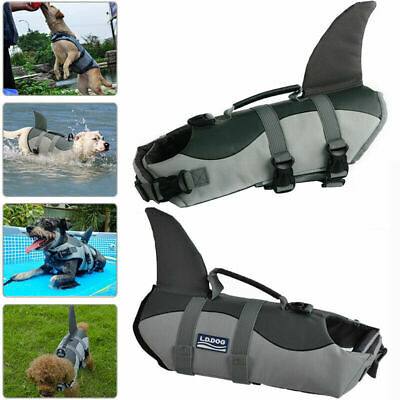 Pet Dog Life Swimming Jacket Shark Float Vest Buoyancy Aid Costume Hot Sale