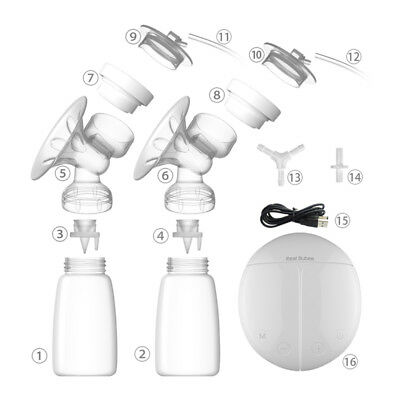 Electric Automatic Breast Pump Double Nipple Massage Suction Baby Feeding Bottle