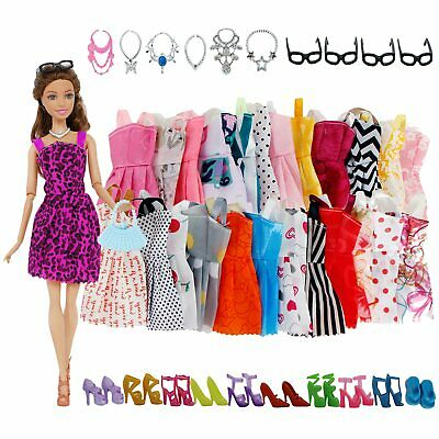40PC Dress Doll Barbie Handmade Clothes Vintage Reproduction Repro Fashion Party