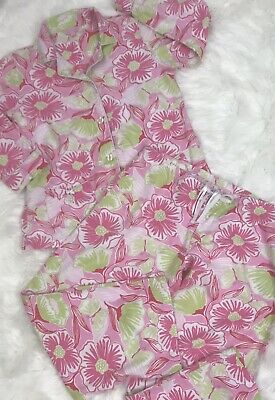 6dc79132f3ff9b Lilly Pulitzer Pajamas PJs Size Small Pink Green Flowers Butterflies Shirt