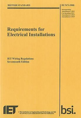 IET Wiring Regulations : BS 7671:2008 Incorporating Amendment Number 3:2015