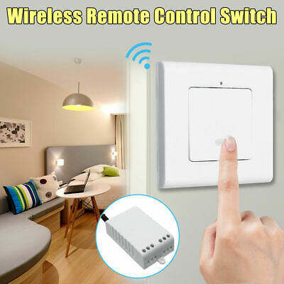 1 Way Wireless Lamp Light No Wiring Wall Switch ON/OFF Remote Control + Receiver