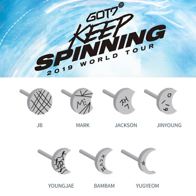 PRE-ORDER GOT7 2019 WORLD TOUR [ KEEP SPINNING ] Official MD : ECLIPSE PIERCING