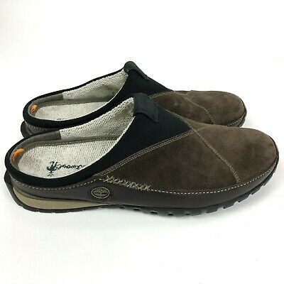 5f16ba0a126 Timberland Mens 10.5 M Power Lounger Smartwool Scuffs Clog Mules Brown Suede
