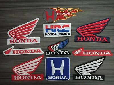 Patches Honda Motor Racing Car Motorcycles Bike embroidered patch Iron or Sew on