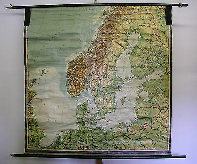 Schulwandkarte Beautiful Old North Sea Baltic London before 1939 172x171cm