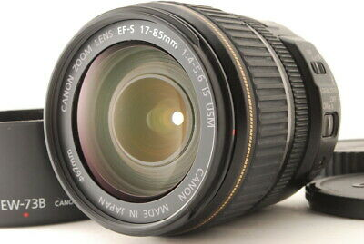 """""""Exc+++++"""" Canon EF-S 17-85mm F/4-5.6 IS USM Lens w/ Hood From Japan C521"""