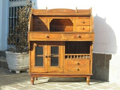Elegant Furniture Secretaire Fore with Columns Wood Xx Sec.