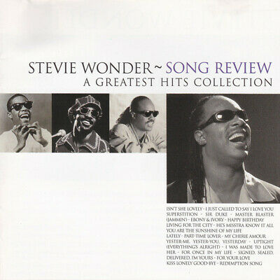 Stevie Wonder Song Review (A Greatest Hits Collection) (VG+) CD,