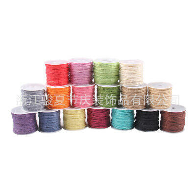 50m 2mm Hemp Craft Twine String 50m Natural 2mm Rope Length Linen Cord Jute K6