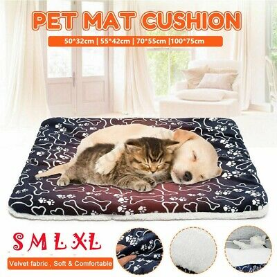 Pet Washable Home Blanket Cat Puppy Bed Cushion Mattress Kennel Soft Crate Mat