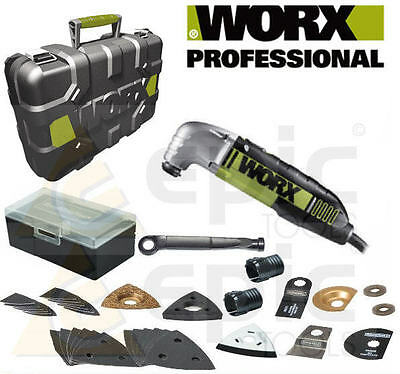 Worx WU678 Pro Sonicrafter Universel Tête Mutli Kit Outils 240v + 39 Assorti
