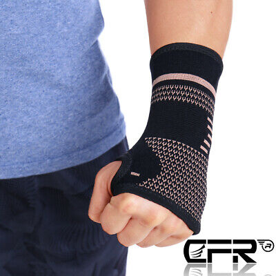 CFR Copper Wrist Sleeve Compression Support Carpal Tunnel Arthritis Pain Relief