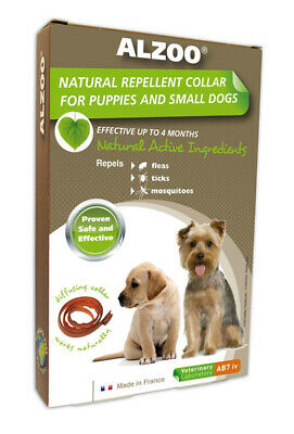 ALZOO - Natural Repellent Flea & Tick Collar for Dogs - Small