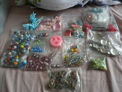 huge job lot of jewellery beads, brooch making, allsorts SALE BARGAIN