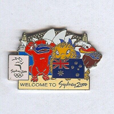 Sydney 2000 - Welcome To Sydney 2000 Australia Flag Olympic Pin [Op-33]