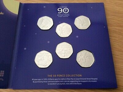 2019 Peter Pan 50p Special Edition 6 Coin Set Great Ormond Street FREEPOST