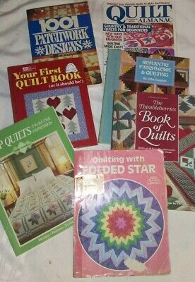 Mixed Lot Of Quilting Books, Quilt Patterns