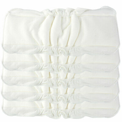 5X Reusable Baby Infant Newborn Cloth Diaper Bamboo Soft Nappy Liners Insert New