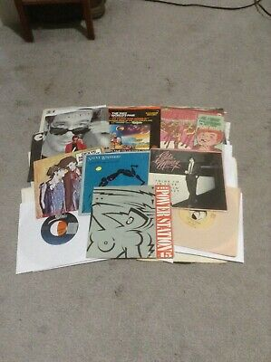 """Classic Rock Vinyl Record Lot Of 50 45 Rpm""""S Great Collection Of Artists"""