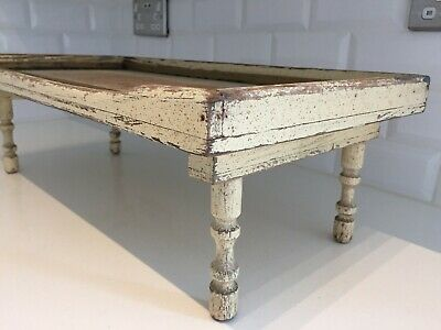 Vintage Distressed Folding Breakfast Tray Table Original Shabby Paint 1940s