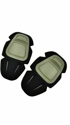 Tactical Airsoft Knee Pad Inserts - G3 Style Flex Knee Protection - Green