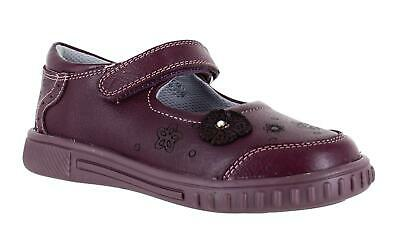 Girls Toddler/Infants Hush Puppies Yaxley Flat Casual Leather Shoes Sizes 4 to 9