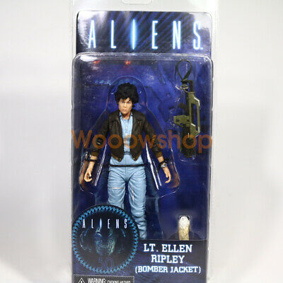 "NECA Alien LT. Ellen Ripley w. Bomber Jacket 7"" Action Figure Aliens Series 12"