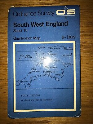 Ordnance Survey Quarter Inch Map - South West England (1969)