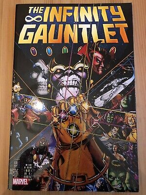 INFINITY GAUNTLET GRAPHIC NOVEL Paperback Collects 6 Issue Series by Jim Starlin