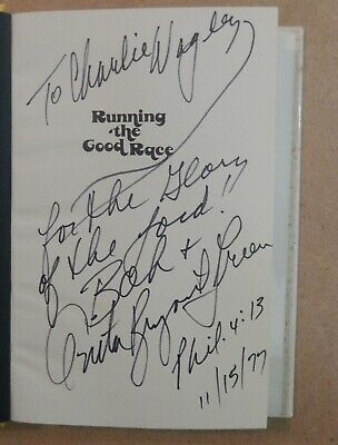 "Political Activist Anita Bryant/Bob Green Signed Book ""Running the Good Race"""