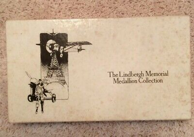 The Charles Lindbergh Memorial Medallion Collection In Wood Box Sterling Silver