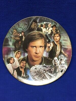 STAR WARS PLATE- HAN SOLO ~The Hamilton Collection 1997-Limited Edition-w/ COA