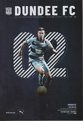18/19 DUNDEE HOME  PROGRAMMES ( choose from the drop down list)
