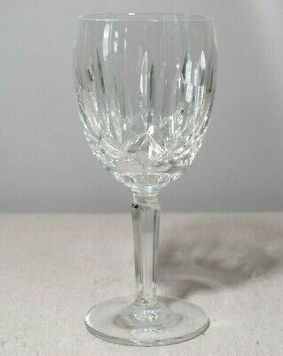 "Waterford Kildare Crystal Water Goblet Wine Glass Ireland 7"" Tall Signed"