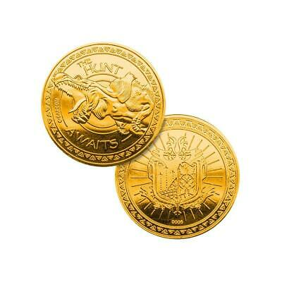 NEW Official Monster Hunter Limited Edition Rare Numbered Collectors Gold Coin