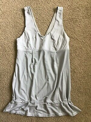 4a3a9aff8e5 LULULEMON Gray Elevate Closed Back Cinch Workout Sport Run Yoga Tank Top 4