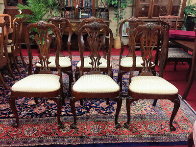 Councill Craftsmen Mahogany Dining Chairs - Philadelphia Queen Anne Style - Deli