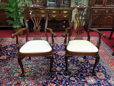 Councill Craftsmen Mahogany Arm Chairs - Philadelphia Queen Anne - Delivery Avai