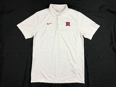 Nike Rutgers Scarlet Knights - White Dri-Fit Polo Shirt (Multiple Sizes) - Used